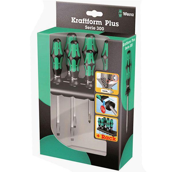 WERA Набор отверток Kraftform Plus Lasertip + подставка 335/350/355/6 6 предметов WERA WE-105622