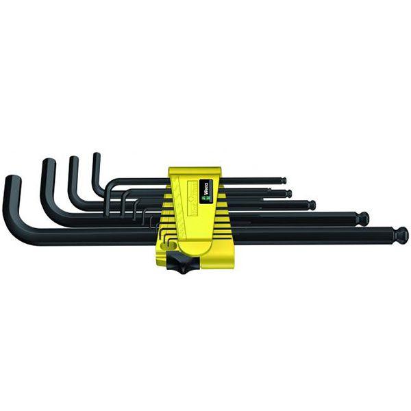 WERA Набор Г-образных шестигранных ключей, дюймовых, BlackLaser 13 предметов 950 PKL/13 SZ N WERA WE-021728