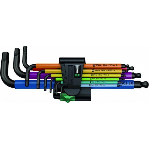 WERA Набор Г-образных шестигранных ключей метрических 9 предметов BlackLaser 950 SPKL/9 SM N WERA WE-073593