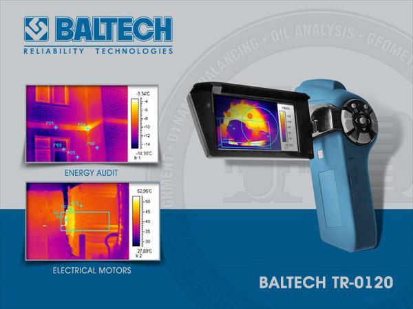 Тепловизор BALTECH TR-0120 (160Х120) с цифровой камерой и диапазоном –20°С … +350°С