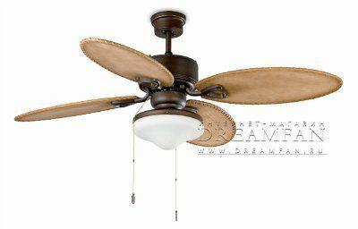 Люстра - вентилятор (потолочный вентилятор со светильником) Lombok