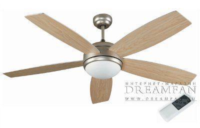 Люстра - вентилятор (потолочный вентилятор со светильником) Vanu Nikuel