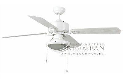 Люстра - вентилятор (потолочный вентилятор со светильником) Hierro Blanco