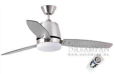 Люстра - вентилятор (потолочный вентилятор со светильником) Malta Niquel