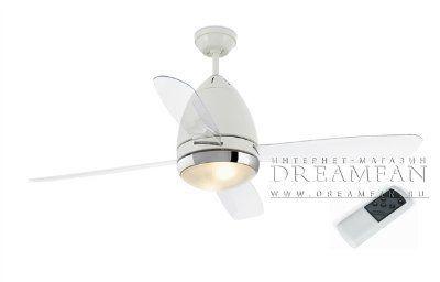 Люстра - вентилятор (потолочный вентилятор со светильником) Faretto Blanco