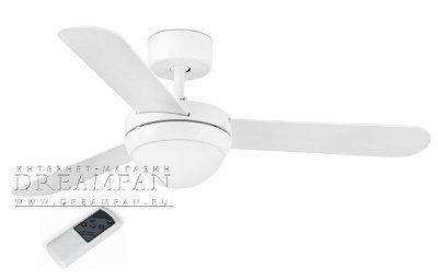 Люстра - вентилятор (потолочный вентилятор со светильником) Feroe Blanco