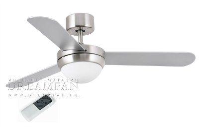 Люстра - вентилятор (потолочный вентилятор со светильником) Feroe Niquel