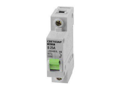 Выключатель автоматический 1-полюсный (тип расцепления В), 230/400 В