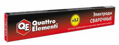 Электроды сварочные QUATTRO ELEMENTI рутиловые, 3,2 мм, масса 0,9 кг, артикул 770-438