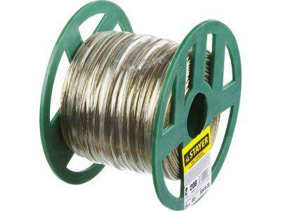 Трос стальной STAYER MASTER в полимерной оболочке, d 2,0 мм, L 200