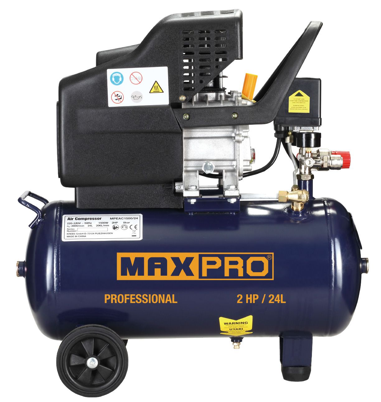MAX-PRO Компрессор Воздушный 1500Вт, артикул 85293 MPEAC1500/24
