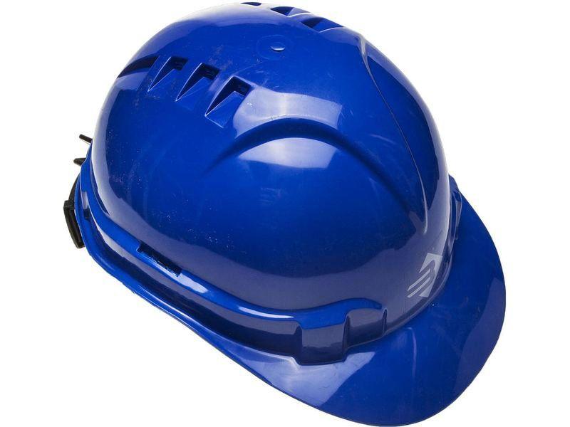Каска защитная ЗУБР ЭКСПЕРТ храповый механизм регулировки размера, синяя, Артикул 11094-3