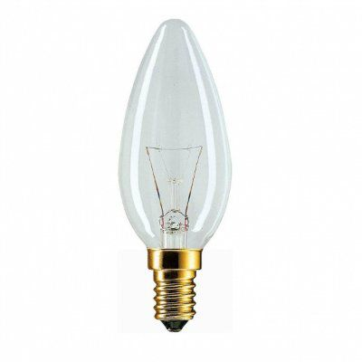 Лампа накаливания свеча 60Вт E14 230V CL Комтех