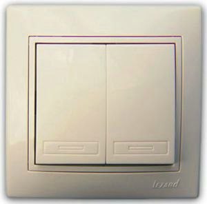 EL-BI Alsu крем. Выключатель ОП 2 кл. 504-0300-202
