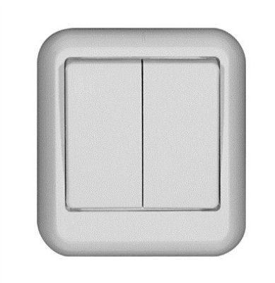 Выключатель 2-кл. ОП Прима 6А с инд. бел. SchE А56-007 A56-007-B (А56-007-б)