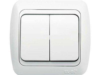 Выключатель 2-кл СП с з/к (крат. 1шт)