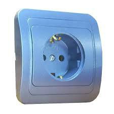 EL-BI Zirve розетка синяя 511-1212-215