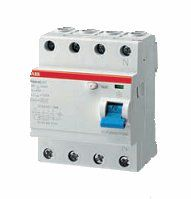 Выключатель диф. тока 4п 25A 300mA тип AC F204 ABB 2CSF204001R3250