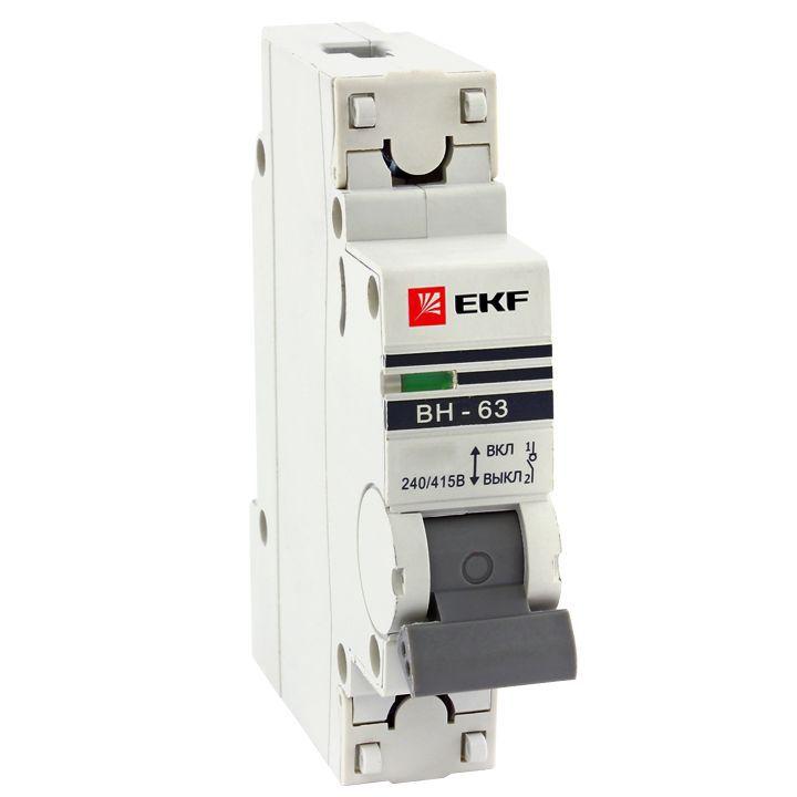 Выкл. нагрузки 1P 63А ВН-63 EKF