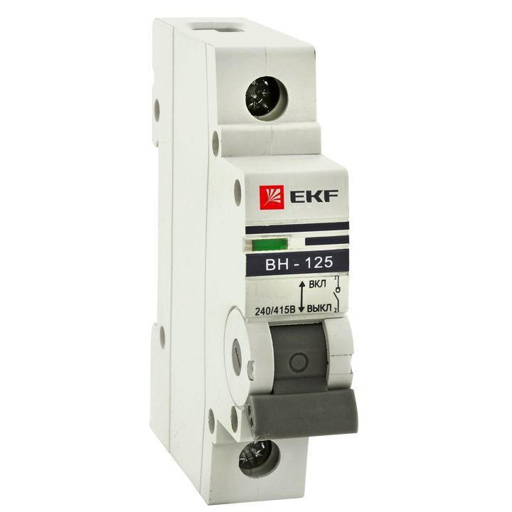 Выкл. нагрузки 1P 125А ВН-125 EKF