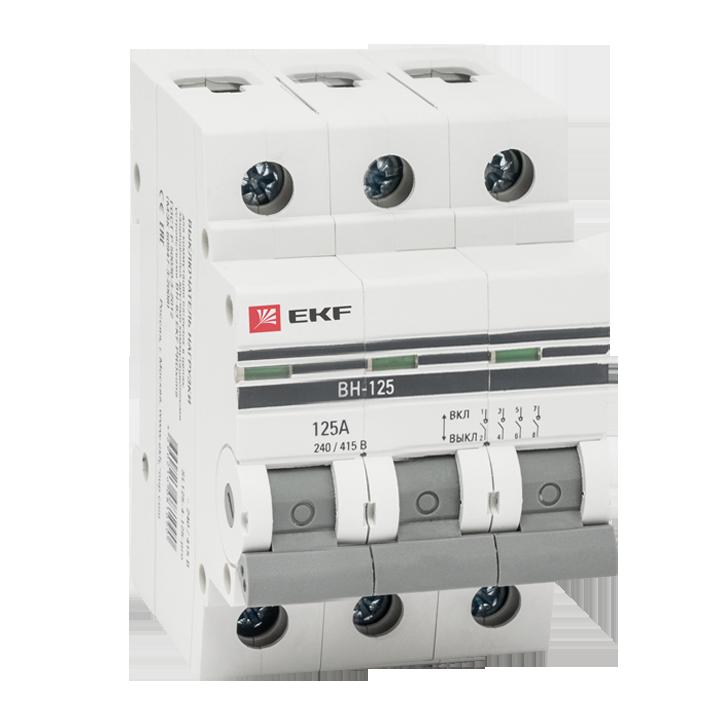 Выкл. нагрузки 3P 125А ВН-125 EKF