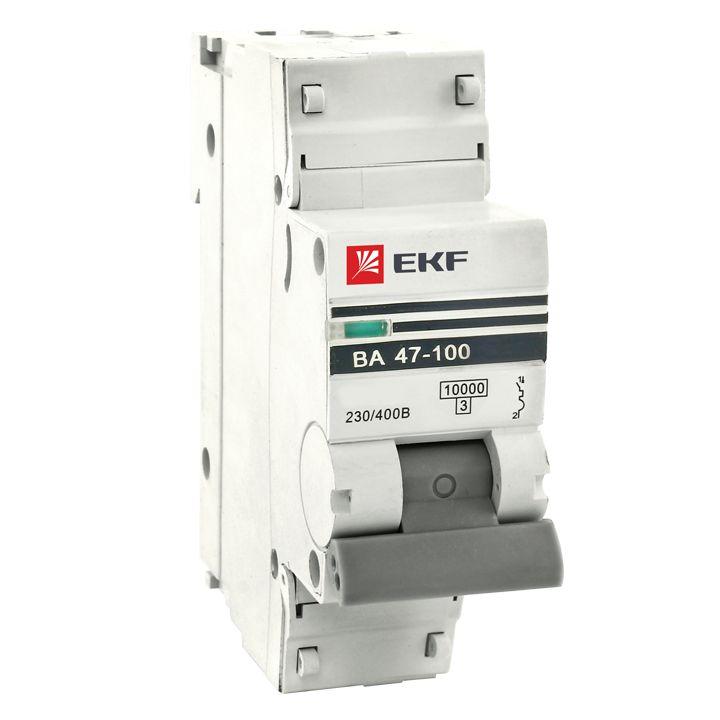 Авт. выкл. 1P 50А (D) 10kA ВА 47-100 EKF
