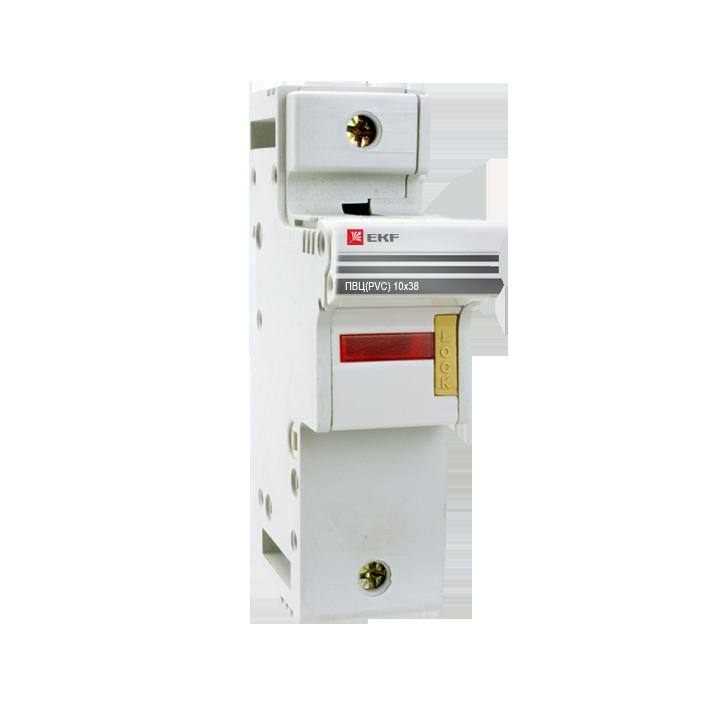 Предохранитель-разъединитель для ПВЦ 10x38 1P (с индик.) EKF