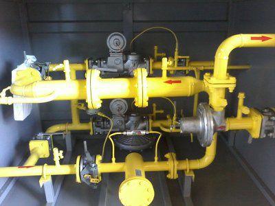 Газорегуляторный пункт шкафной ГРПШ-13-2ВУ1-ЭК с измерительным комплексом