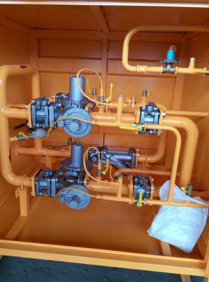 Пункт шкафной газорегуляторный ГРПШ-03БМ-2У1-ЭК с измерительным комплексом
