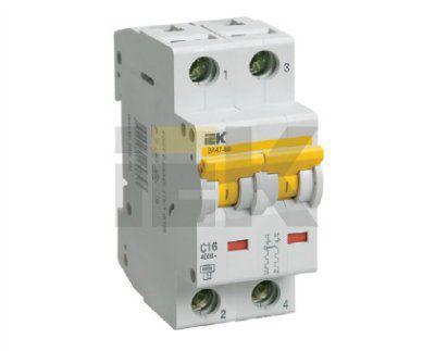 Автоматический выключатель ВА47-60 2P 63А D 6кА 1-полюсный ИЭК IEK