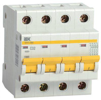 Автоматический выключатель ВА47-29М 4P 8A 4,5кА характеристика B ИЭК