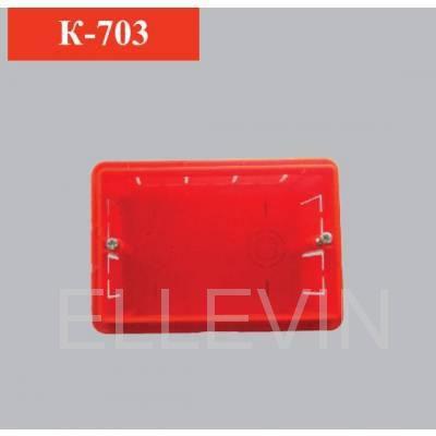 Коробка электромонтажная трехместная прямоугольная