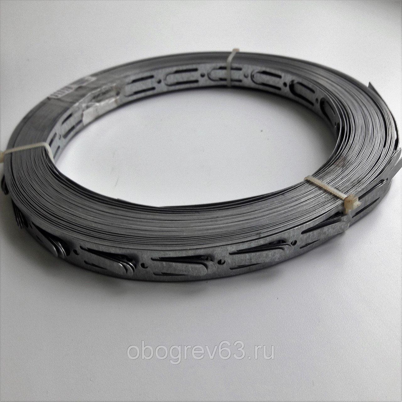 Лента для монтажа греющего кабеля.