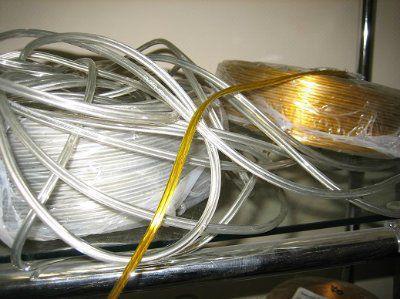 Провод круглый ПВХ 3х0,75мм2 прозрачный с цветовой индикацией, бухта 100м