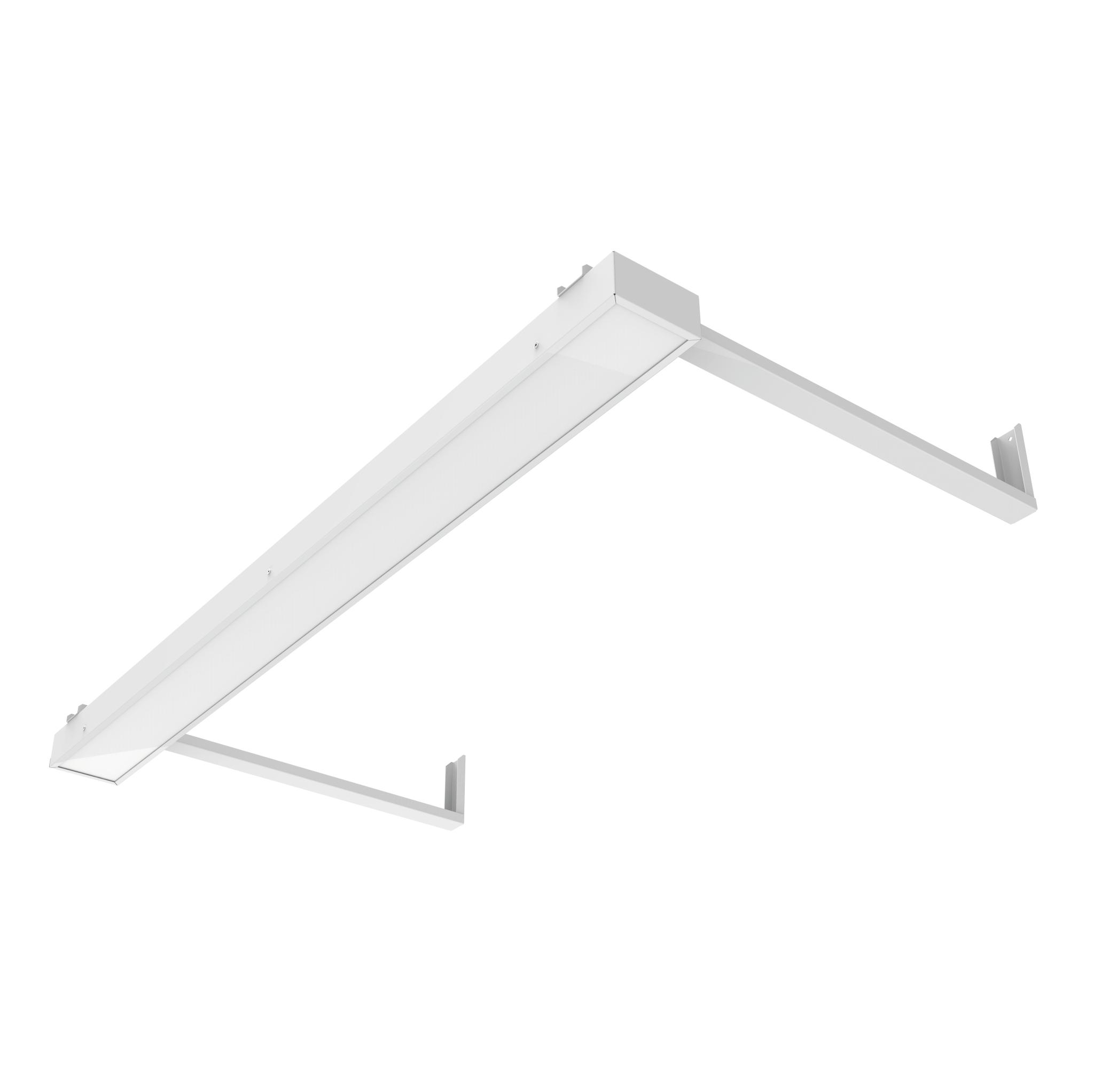 Светодиодный светильник SKE-для школьных досок NSU-20 1195хх100 в комплекте с рассеивателем опал\призма и кронштейнами
