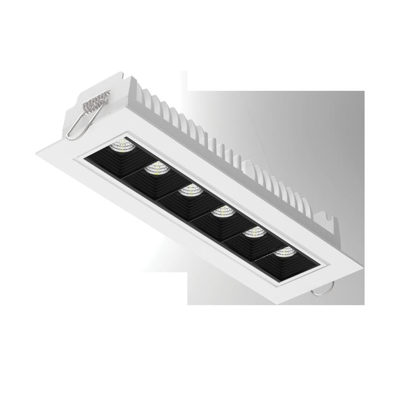 """Светодиодный светильник""""ВАРТОН"""" DL-STELLAR встраиваемый поворотный 199x62x45mm 15W 3000K 34° белый DALI"""