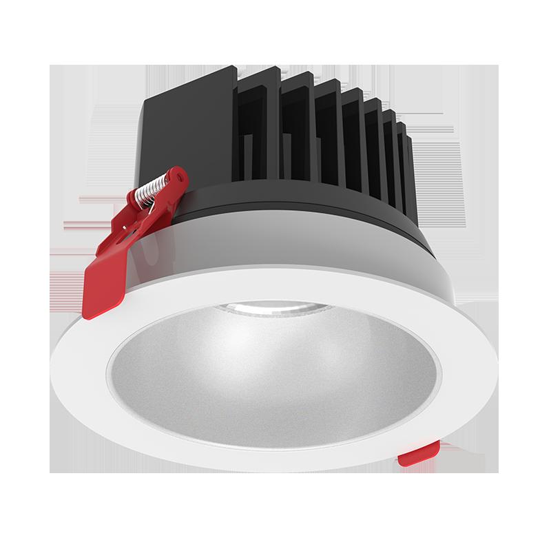 """Светодиодный светильник """"ВАРТОН"""" DL-SPARK встраиваемый 15W 3000/4000K 60° 120x88mm белый DALI c матовым серебристым рефлектором IP44/20"""
