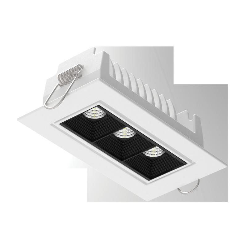 """Светодиодный светильник""""ВАРТОН"""" DL-STELLAR встраиваемый поворотный 120x62x45mm 8W 3000/4000K 34° белый"""
