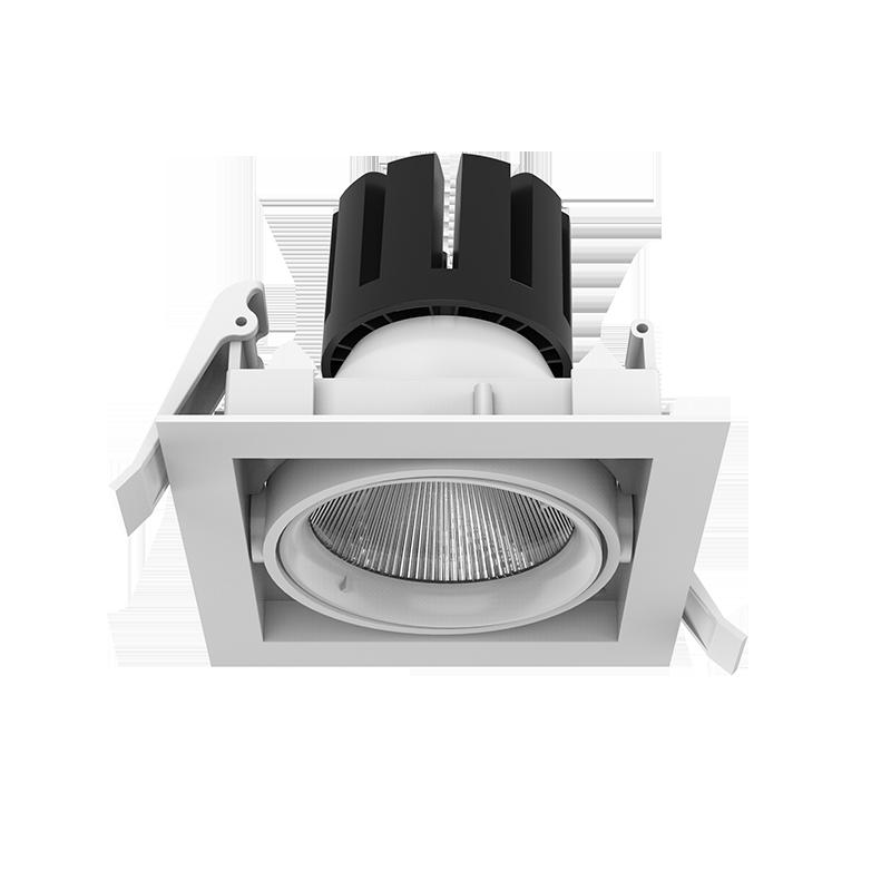"""Светодиодный светильник """"ВАРТОН"""" DL-TETRIS поворотный 35° 165*165*140mm 25W 3000/4000K IP20"""