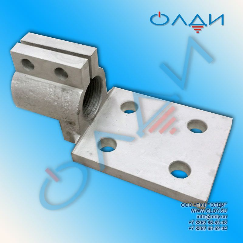 Зажим контактный ТМ(ТМГ) 250-02 (М16х2,0) 250А КРУН КРУ КСО контакты