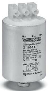 Импульсное зажигающее устройство / ИЗУ Z 1000 S/220V 140430 для ламп HI, HS 250-1000W, алюм. корпус, Vossloh-Schwabe