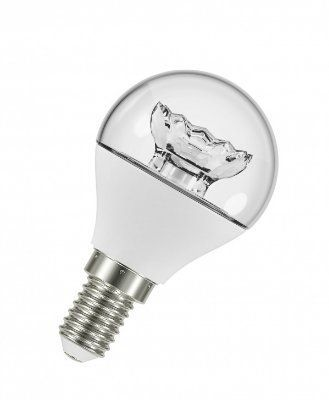 Лампа светодиодная LED STAR CLASSIC P40 6W/827 E14 CL 470lm 220V d43x86мм 15000h шарик прозрачный артикул 4052899214989 OSRAM