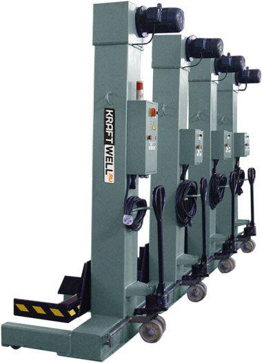 KraftWell KRW4M7.5 Колонны подкатные г/п 4х7,5 т. электромеханические