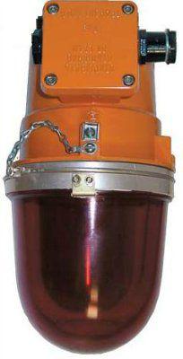 Взрывозащищенный сигнальный светильник НСП 43М-200 красный, для маркировки объектов и ограждений
