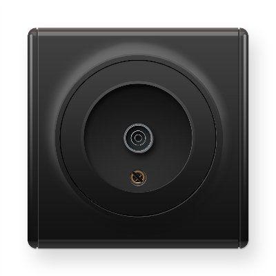 Черная розетка антенная TV E21101303