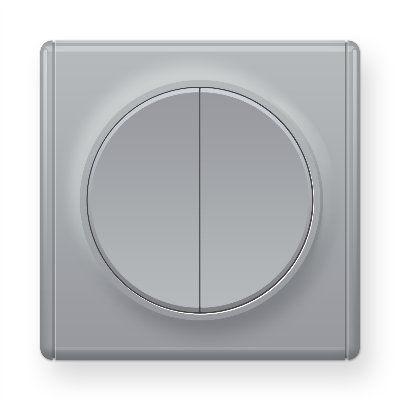 Серый переключатель двойной E31601302