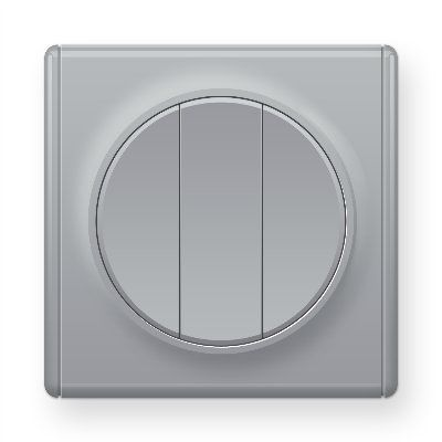 Серый выключатель тройной E31901302