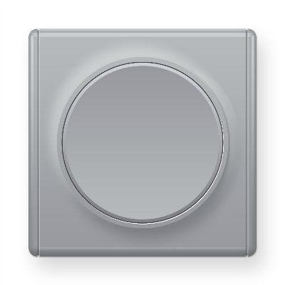 Серый выключатель одинарный E31301302
