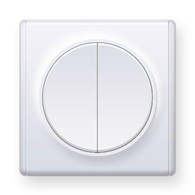 Белый выключатель двойной E31501300