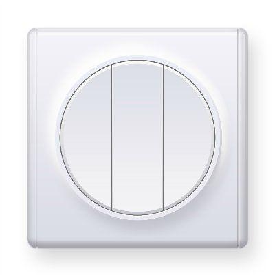 Белый выключатель тройной E31901300